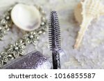 brush of glitter mascara close... | Shutterstock . vector #1016855587