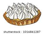 a vector illustration of lemon... | Shutterstock .eps vector #1016861287