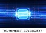 abstract technology chipset... | Shutterstock .eps vector #1016863657