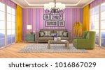 interior living room. 3d... | Shutterstock . vector #1016867029