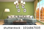 interior living room. 3d... | Shutterstock . vector #1016867035