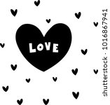 hand drawn letters love clip... | Shutterstock .eps vector #1016867941