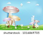 little boy and girl playing the ...   Shutterstock .eps vector #1016869705