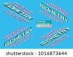 isometric alphabet 4 in 1. 3d... | Shutterstock .eps vector #1016873644