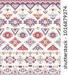 seamless ethnic pattern... | Shutterstock .eps vector #1016879374