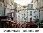paris  france   january 03 ... | Shutterstock . vector #1016882185