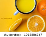 juice vitamin orange fresh... | Shutterstock . vector #1016886367