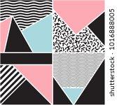 seamless geometric pattern.... | Shutterstock .eps vector #1016888005