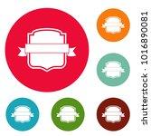 badge emblem icons circle set...   Shutterstock .eps vector #1016890081