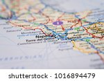 napoli  italy on the map | Shutterstock . vector #1016894479