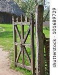 Vintage Wooden Rural Gate In...