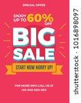 big sale flyer. vector... | Shutterstock .eps vector #1016898097