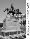 Small photo of COLUMBIA SC USA 06 27 2016: Wade Hampton III equestrian statue was a Confederate cavalry leader during the American Civil War and afterward a Democratic Party politician from South Carolina.