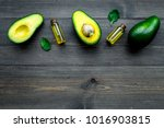avocado oil in bottles for skin ...   Shutterstock . vector #1016903815