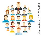 avatar user icon set isolated.... | Shutterstock .eps vector #1016904439