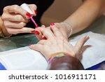 manicure artificial nails | Shutterstock . vector #1016911171