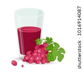 fresh grape and fresh grape... | Shutterstock .eps vector #1016914087