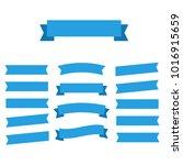 flat ribbons banners flat... | Shutterstock . vector #1016915659