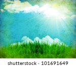 vintage nature background with... | Shutterstock . vector #101691649