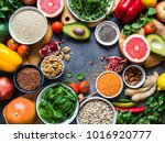 fresh raw  ingredients for... | Shutterstock . vector #1016920777