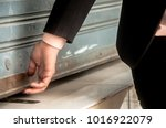 hand of the businesswoman... | Shutterstock . vector #1016922079