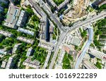 aerial city view with... | Shutterstock . vector #1016922289