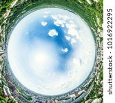 aerial city view with... | Shutterstock . vector #1016922295