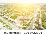 aerial city view with... | Shutterstock . vector #1016922301