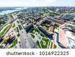 aerial city view with... | Shutterstock . vector #1016922325