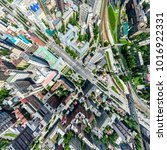 aerial city view with... | Shutterstock . vector #1016922331