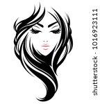 illustration of women long hair ... | Shutterstock .eps vector #1016923111