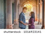 couples together in the... | Shutterstock . vector #1016923141