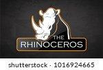rhinoceros on a dark background.... | Shutterstock .eps vector #1016924665
