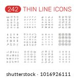 set of thin line icons... | Shutterstock .eps vector #1016926111