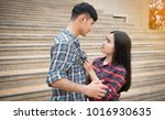 lovers are angry at each other... | Shutterstock . vector #1016930635