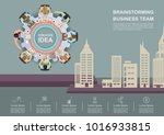 business meeting and...   Shutterstock .eps vector #1016933815