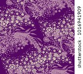 seamless floral pattern with... | Shutterstock .eps vector #1016941909
