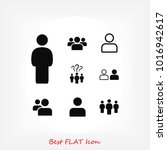 people icon  stock vector... | Shutterstock .eps vector #1016942617