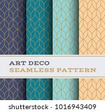 art deco seamless pattern with... | Shutterstock .eps vector #1016943409