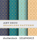art deco seamless pattern with... | Shutterstock .eps vector #1016943415