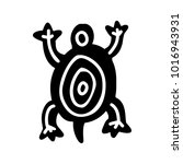 turtle icon with aztec patterns ... | Shutterstock .eps vector #1016943931