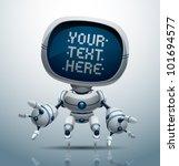 vector banner robot 11 | Shutterstock .eps vector #101694577