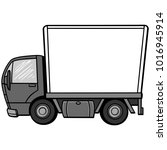 delivery truck illustration   a ...   Shutterstock .eps vector #1016945914