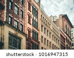 row of vintage new york city... | Shutterstock . vector #1016947315