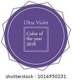 ultra violet pantone circle... | Shutterstock .eps vector #1016950231
