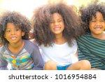 group of happy children or kids ...   Shutterstock . vector #1016954884