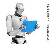 3d rendering humanoid robot... | Shutterstock . vector #1016955751