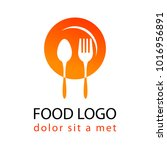 food logo silhouette style... | Shutterstock .eps vector #1016956891
