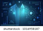 abstract technology science... | Shutterstock .eps vector #1016958187