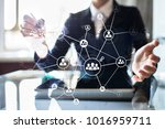 global outsourcing and... | Shutterstock . vector #1016959711